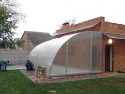 Компактный павильон для бассейна