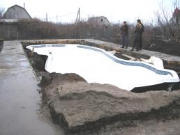 Установка бассейнов