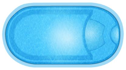Композитный бассейн Guron - вид сверху