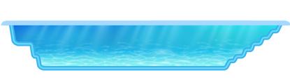 Сборный бассейн в разрезе